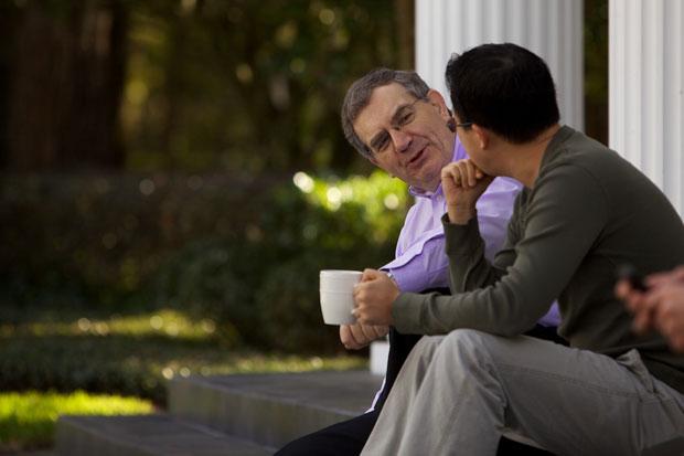 Dr. Sinclair Ferguson with a student